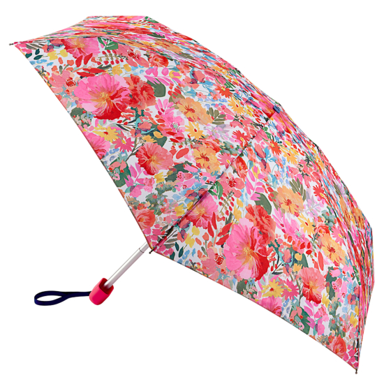 Joules Tiny Folding Umbrella - Hollyhock Meadow
