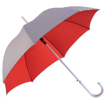 Silver 2 Tone Umbrella - Silver/Red