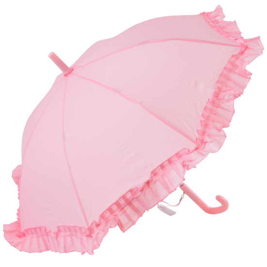 Galleria Kids Pink Frilly Umbrella