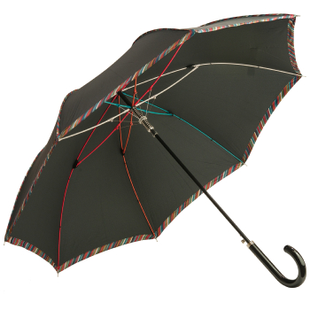 M&P Rayas Automatic Opening Walking Length Umbrella - Black