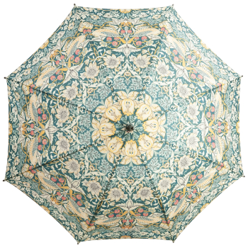 Morris & Co Kensington Walking Length Umbrella by Fulton - Strawberry Thief