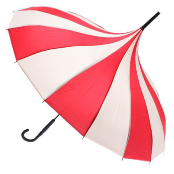 Classic Pagoda Umbrella from Soake - Red & Cream