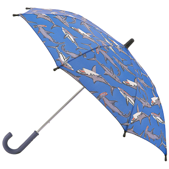 Joules Junior Kids Umbrella - Hammerhead Shark