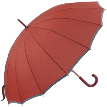 Sedici Fibreglass 16 Rib Umbrella - Burnt Sienna
