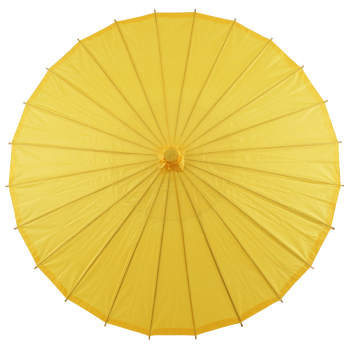 Chinese Paper and Bamboo Parasol - Yellow