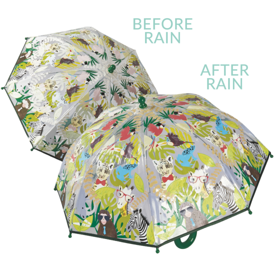 Colour Changing Childrens PVC Umbrella - Go Wild