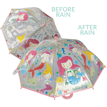 Colour Changing Childrens PVC Umbrella - Mermaid