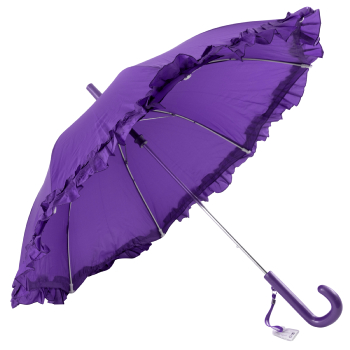 Galleria Kids Purple Frilly Umbrella