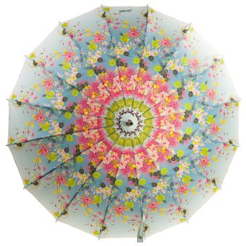 Kimono 16 Rib Umbrella by Jean Paul Gaultier - Blue
