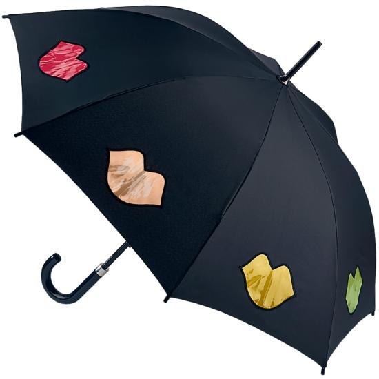 Lulu Guinness Umbrella Kensington - Rainbow Lips