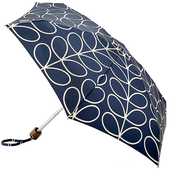 Orla Kiely Tiny Folding Umbrella - Linear Leaf