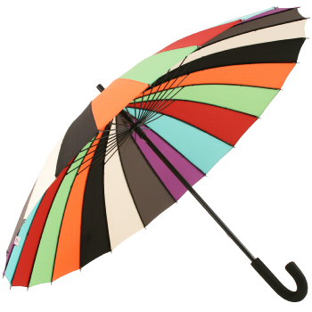 24 Rib Kaleidoscope Classic Stick Umbrella