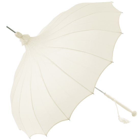 Giselle - Pagoda Wedding Umbrella - Ivory