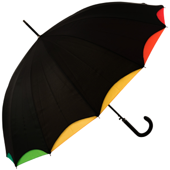 Bright Rainbow - Double Skin Automatic Umbrella