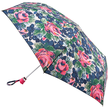 Cath Kidston Minilite Folding Umbrella - Oxford Rose with Rose Handle & Gift Box