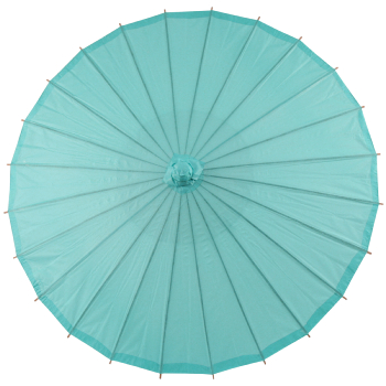 Chinese Paper and Bamboo Parasol - Water Blue