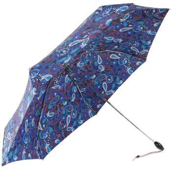 Paisley Folding Umbrella by Joy Heart - Blue