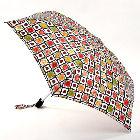 Tiny Folding Umbrella - Chocolate Box by Julie Dodsworth