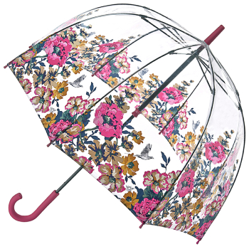 Joules Birdcage Umbrella - Cambridge Floral Anniversary Border Print