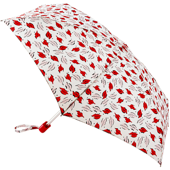 Lulu Guinness Tiny Folding Umbrella - Beauty Mark