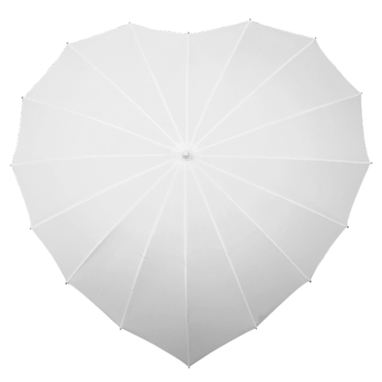 Ex Hire - Heart Umbrella - White