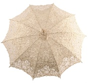 Emma - Battenberg Lace Parasol in Cream
