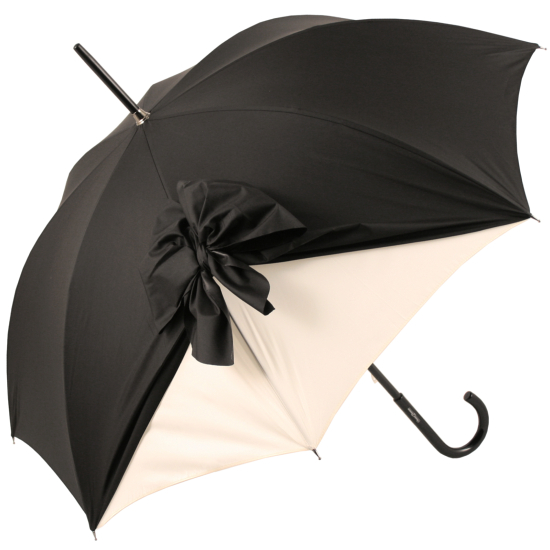 Drape Umbrella in Black and Cream by Chantal Thomass