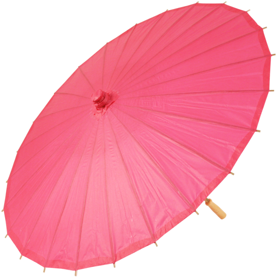 Chinese Paper and Bamboo Parasol - Fuchsia Pink