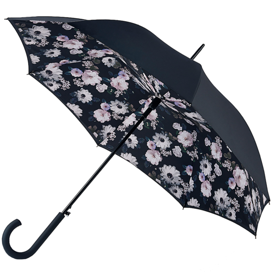 Fulton Bloomsbury Double Canopy Umbrella - Mono Bouquet