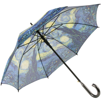 Galleria Art Print Walking Length Umbrella - Starry Night by Van Gogh