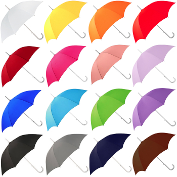 Colours - Plain Coloured Umbrella - Blue