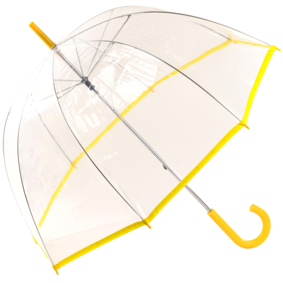 See-Through Slimtrim Clear Dome Umbrella - Yellow