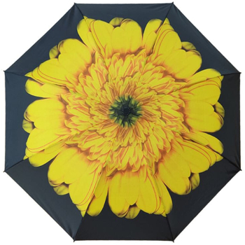 Reverse Auto Open & Close Folding Umbrella - Sunflower