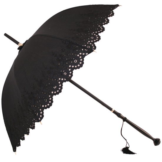 Amelie - UVP Black Embroidery Anglaise Parasol by Pierre Vaux
