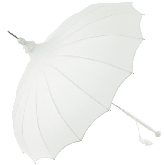Giselle - Pagoda Wedding Umbrella - White