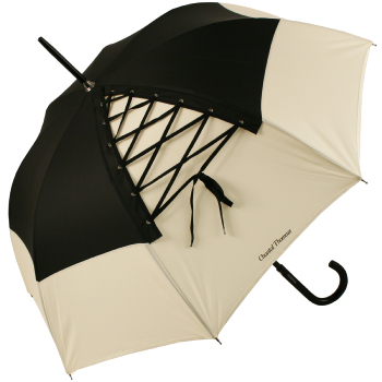 Chantal Thomass Bodice Umbrella - Ivory & Black