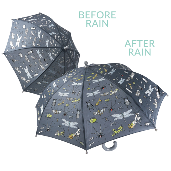 Colour Changing Childrens Umbrella - Bugs