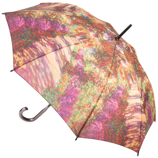 Galleria Art Print Walking Length Umbrella - Garden Path at Giverny by Monet