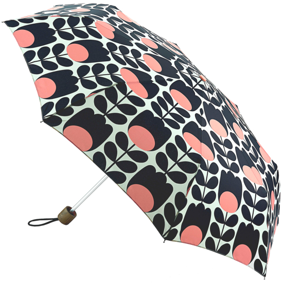 Orla Kiely Minilite Folding Umbrella - Tulip Stem