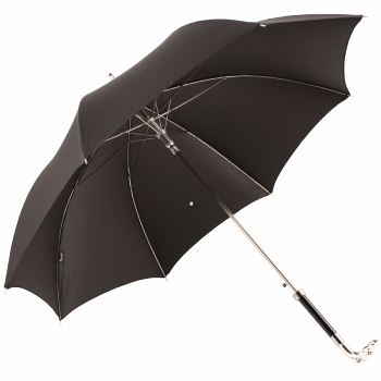 Luxury Gents Umbrella with Chrome Greyhound Handle by Pasotti