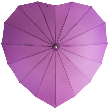 Soake Heart Umbrella - Purple