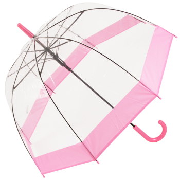 Soake Clear Dome Umbrella - Pink