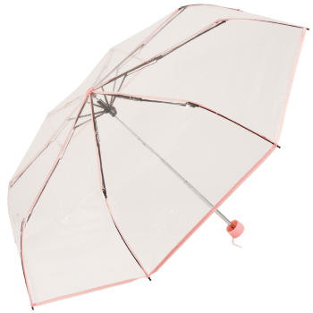 Soake Clear Folding Umbrella - Light Pink