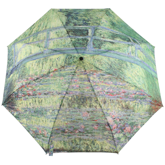 Galleria Art Print Auto Open & Close Folding Umbrella - Monet's Japanese Bridge