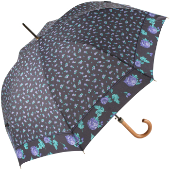 Bonnie Floral Automatic Open Umbrella - Rose Border
