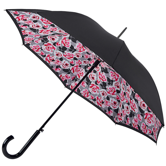 Fulton Bloomsbury Double Canopy Umbrella - Painted Roses
