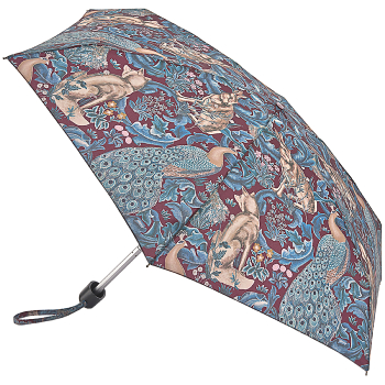 Morris & Co Tiny by Fulton - Lightweight Folding Umbrella - Forest Plum