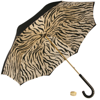Glamour Tiger Luxury Double Canopy Umbrella by Pasotti