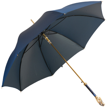 Fascino Luxury Single Canopy Umbrella with Enamelled Tutankhamun Handle by Pasotti