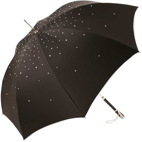 Exclusive Swarovski Crystal Luxury Umbrella Winters Night by Pasotti